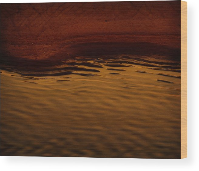 Abstract Wood Print featuring the photograph I Want To Wake Up Where You Are by Dana DiPasquale