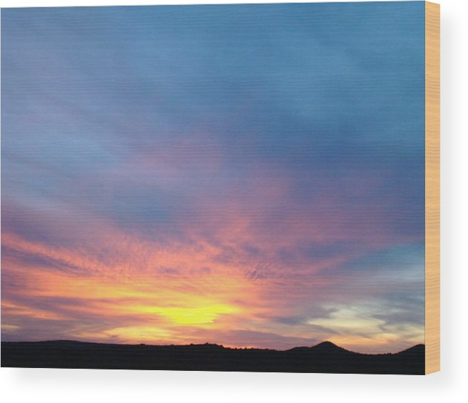 Sunset Wood Print featuring the photograph Ice Cream Sunset by Ana Villaronga