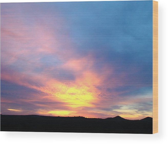 Landscape Wood Print featuring the photograph Ice Cream Sunset Three by Ana Villaronga