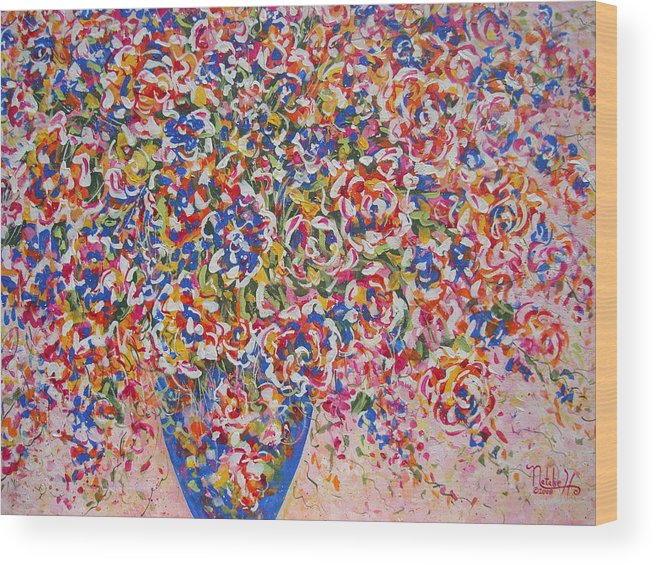 Flowers Wood Print featuring the painting Illumination by Natalie Holland