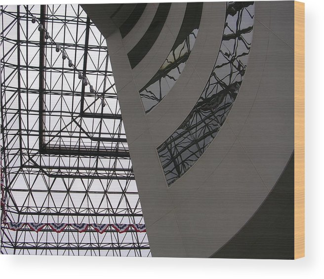 Architiecture Wood Print featuring the photograph I.m. Pei - Point Of View by Nancy Ferrier