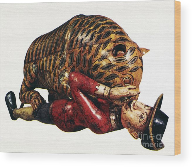 18th Century Wood Print featuring the photograph India: Tiger Attack by Granger