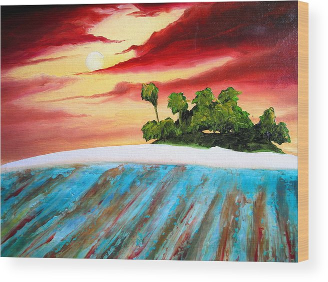Surf Wood Print featuring the painting Island Fever by Ronnie Jackson