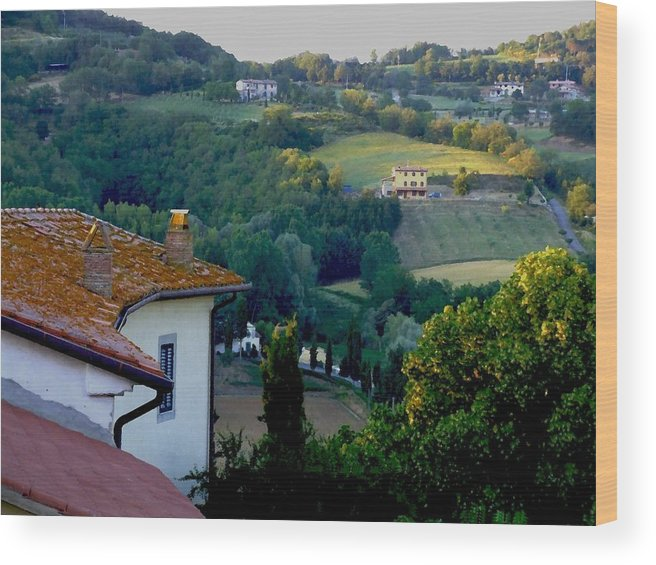 Landscape Wood Print featuring the photograph Italian Morn by Chuck Shafer