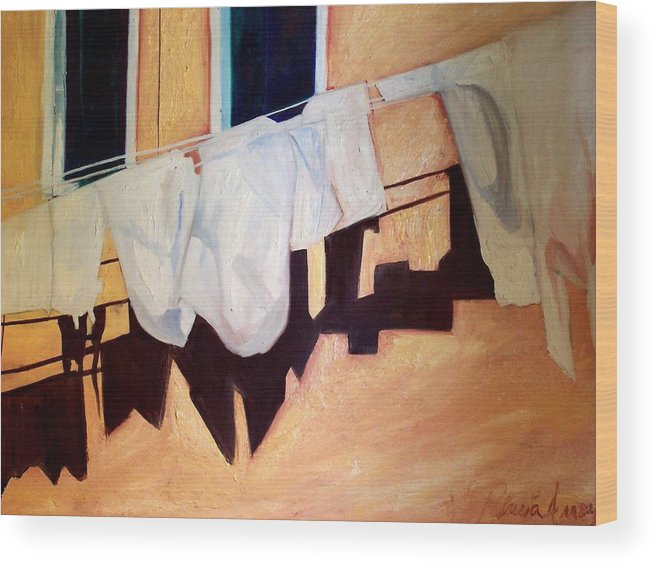 Wood Print featuring the painting Italian Wash by Patricia Arroyo