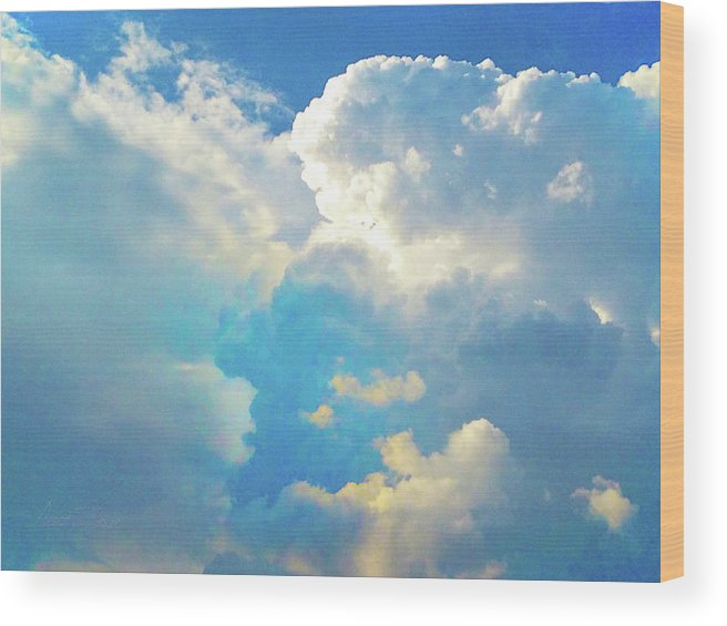 Wood Print featuring the photograph It's Clouds Illusions I Recall 2 by Robert J Sadler