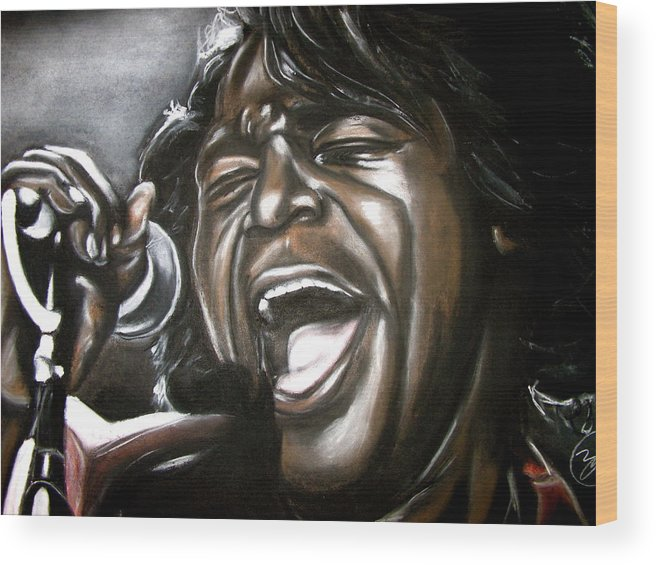 James Wood Print featuring the drawing James Brown by Zach Zwagil