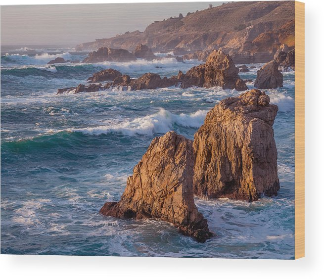 January Wood Print featuring the photograph January In Big Sur by Derek Dean