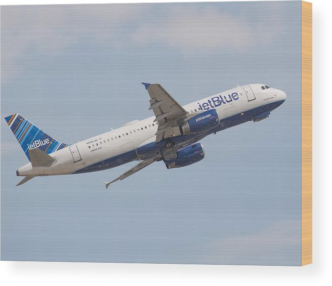 Jetblue Wood Print featuring the photograph Jet Blue by Dart and Suze Humeston