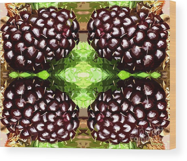 Food Wood Print featuring the photograph Juicy Fruity by Patrick J Murphy