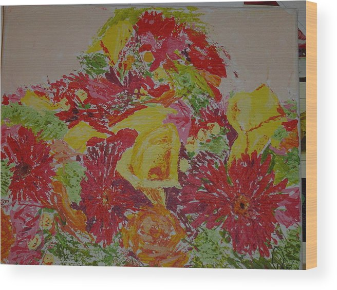 Acrylic Wood Print featuring the painting June Bouquet by Raymond Nash
