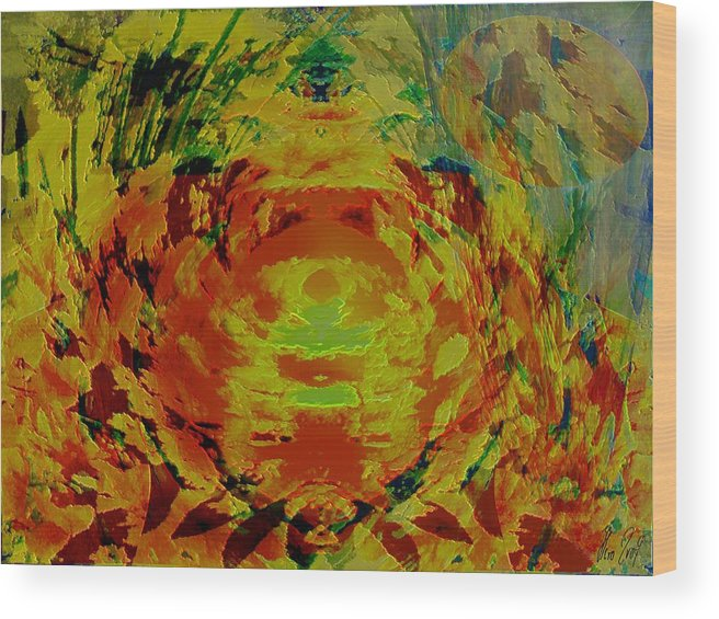 Flowers Wood Print featuring the digital art Just Flowers by Helmut Rottler