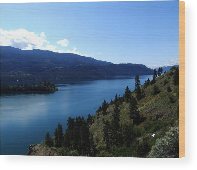 Lake Wood Print featuring the photograph Kalamalka Lake by Tiffany Vest