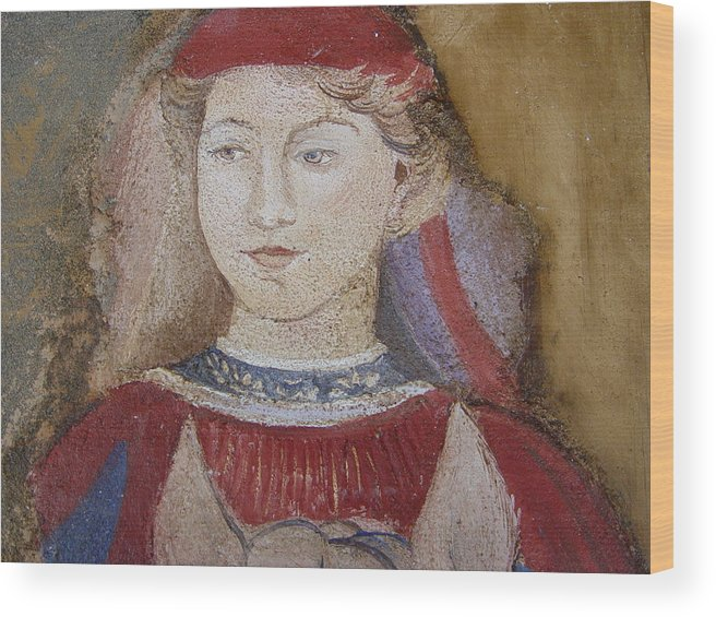 Fresco Wood Print featuring the painting Knight by Maria Grazia Repetto