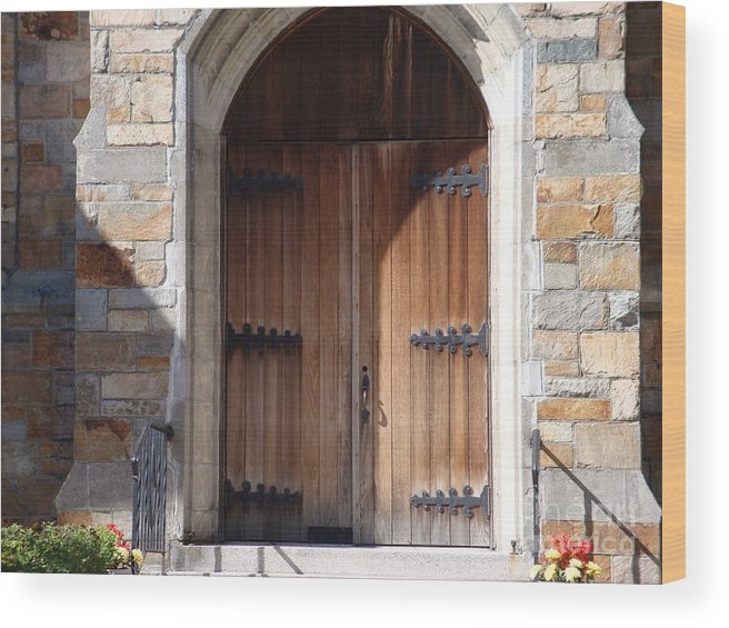 Door Wood Print featuring the photograph Knock And It Will Open by Robyn Leakey