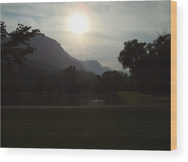 Lake Lure Wood Print featuring the photograph Lake Lure by Flavia Westerwelle