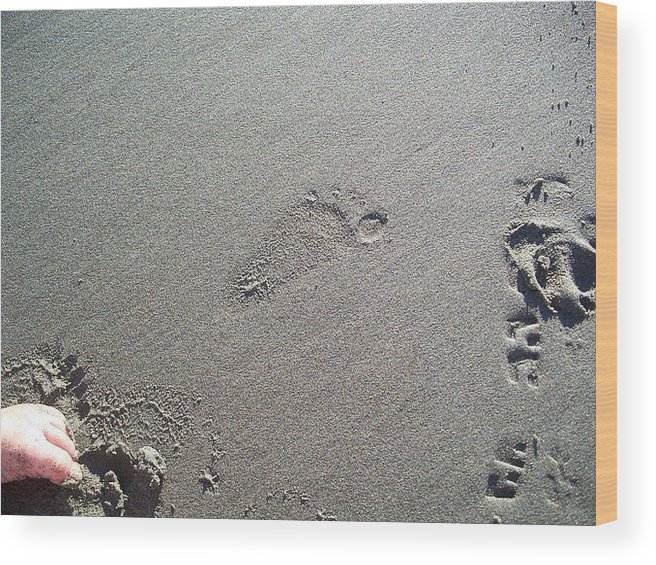 Feet Wood Print featuring the photograph Lasting Impression by Charles Jennison