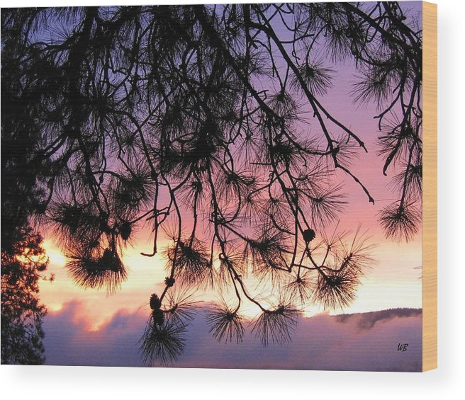 Sunset Wood Print featuring the photograph Lavender Sunset by Will Borden