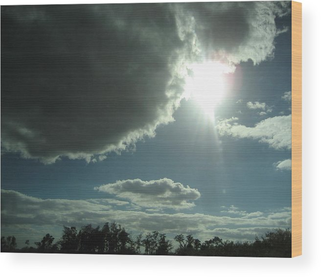 Clouds Wood Print featuring the photograph Leaving Miami 2 by Stephen Hawks