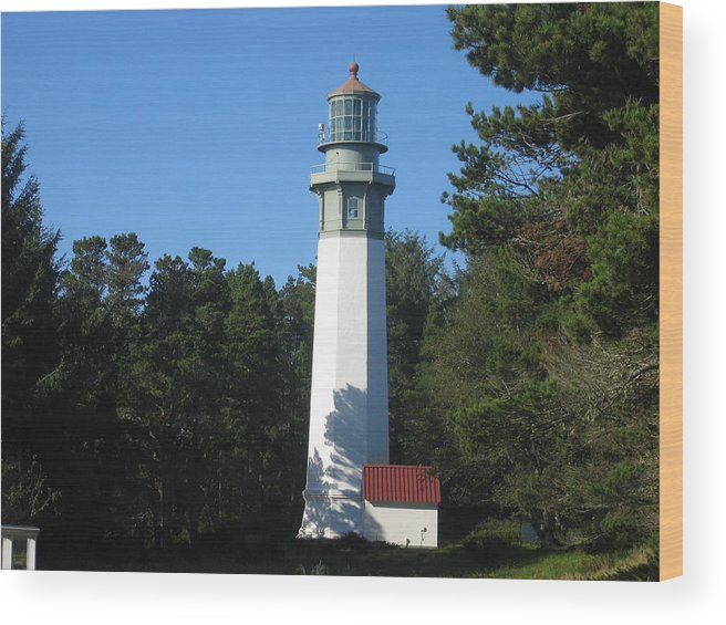 Wood Print featuring the digital art Lighthouse by Barb Morton