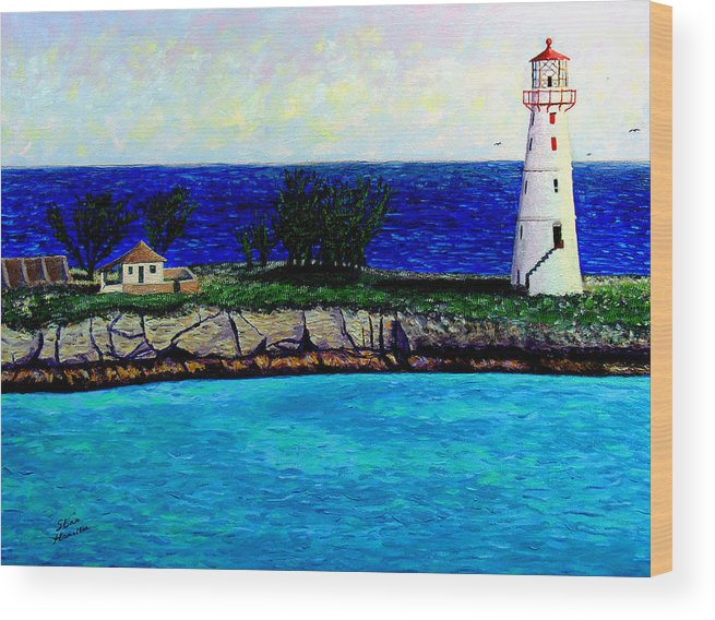 Lighthouse Wood Print featuring the painting Lighthouse IIi by Stan Hamilton
