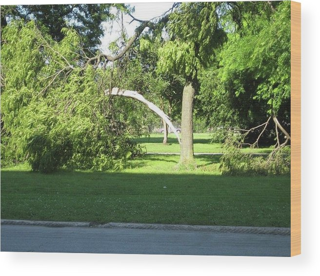 Wood Print featuring the photograph Lightning Strike by Rocky Washington