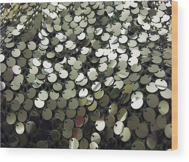 Sequins Wood Print featuring the photograph Little Black Dress by Anna Villarreal Garbis