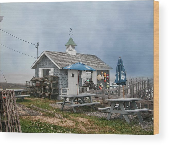 Shack Wood Print featuring the photograph Lobster Shack by Lorraine Baum