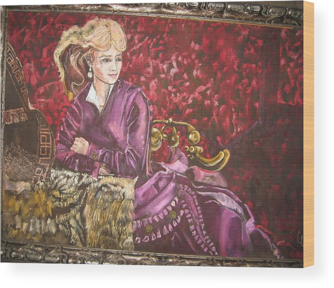 Actress Singer Dancer Old West Wood Print featuring the painting Lola Montez by Lila Witt Locati