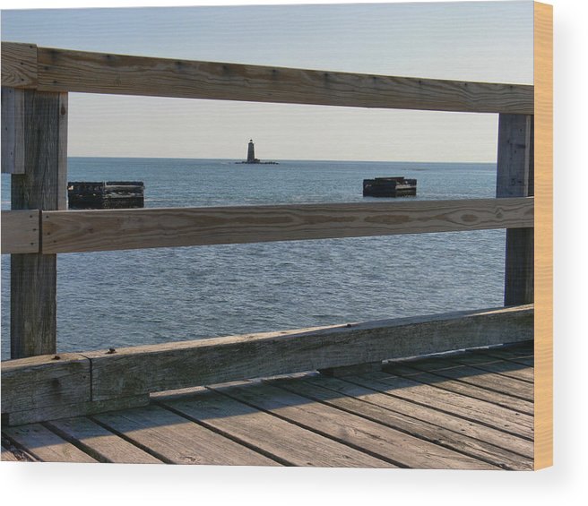 New England Lighthouse Wood Print featuring the photograph Looking Through by Nancie DeMellia