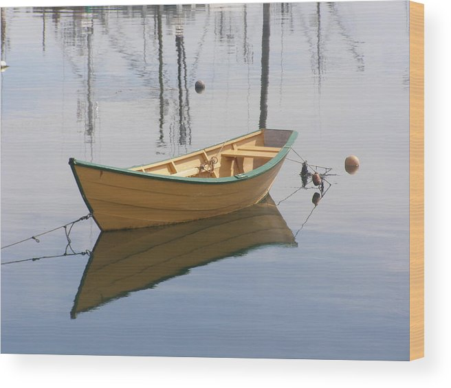 Row Boat Wood Print featuring the photograph Lttle Row Boat by Frederic Durville