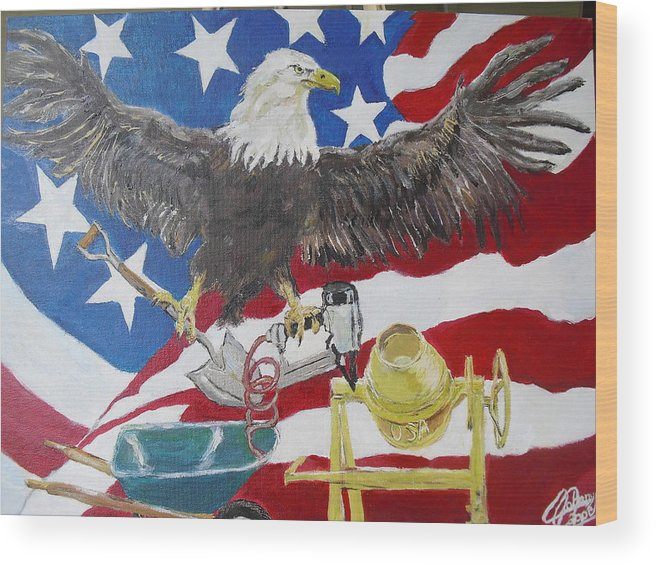 America Wood Print featuring the painting Made In America by John Cappello