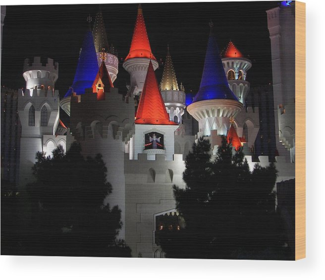 Vegas Wood Print featuring the photograph Magical Vegas Nights by Kim