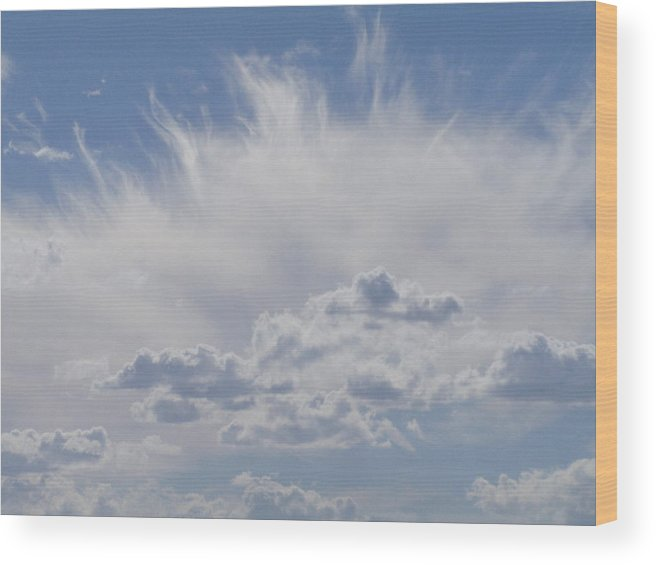 Sky Wood Print featuring the photograph Magnificent Sky by Ruby Farias