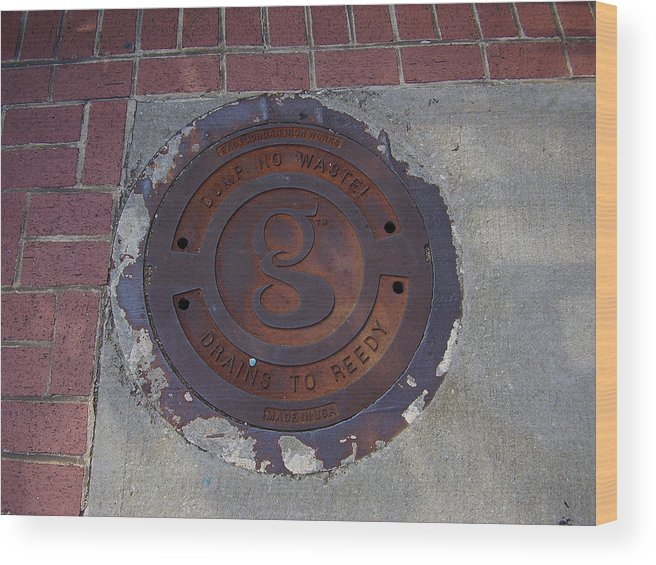Manhole Wood Print featuring the photograph Manhole II by Flavia Westerwelle