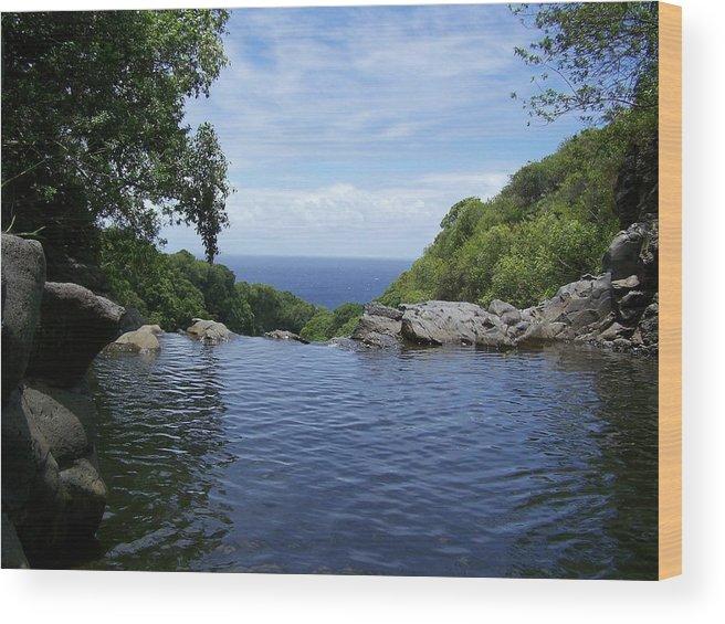 Maui Wood Print featuring the photograph Maui Infinity by Lara Henderson