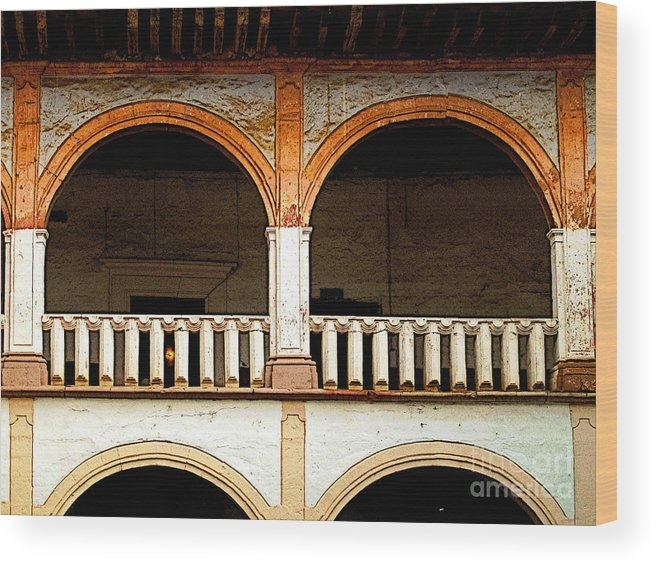 Patzcuaro Wood Print featuring the photograph Mezzanine 3 by Mexicolors Art Photography