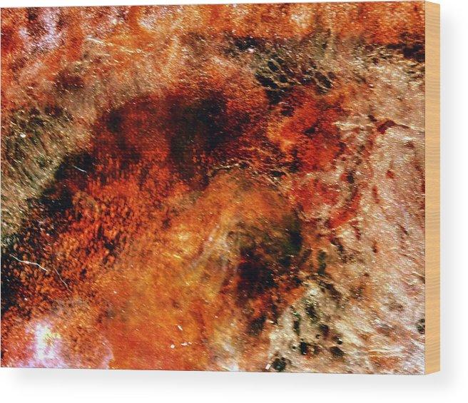 Resin Art Wood Print featuring the photograph Midas Nebula 2 by B L Hickman