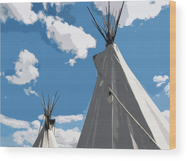 Montana Wood Print featuring the photograph Montana Sky by Joanne Riske