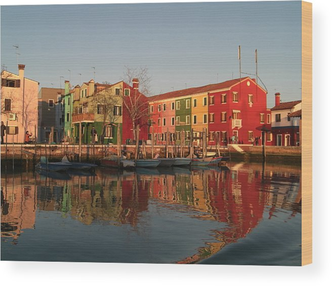 Morano Island In Venice Wood Print featuring the photograph Morano Island In Venice by Paul Jessop