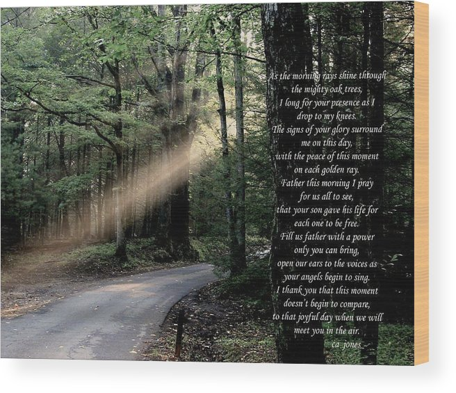 Christian Wood Print featuring the photograph Morning Prayer by Chris Jones