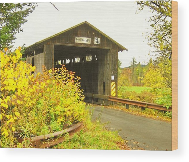 Nh Wood Print featuring the photograph Mount Orne Covered Bridge by Wayne Toutaint