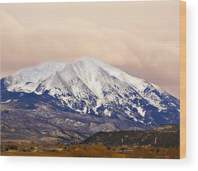 Americana Wood Print featuring the photograph Mount Sopris by Marilyn Hunt