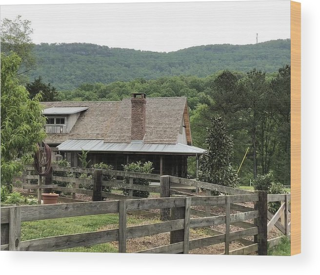 Landscape Wood Print featuring the photograph Mountain Farm by Mark Hill