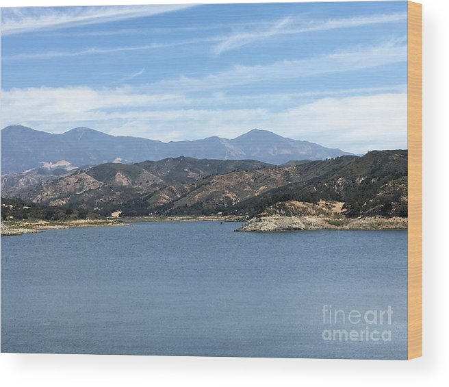 Mountain Wood Print featuring the photograph Mountainous View by Jane Stanley