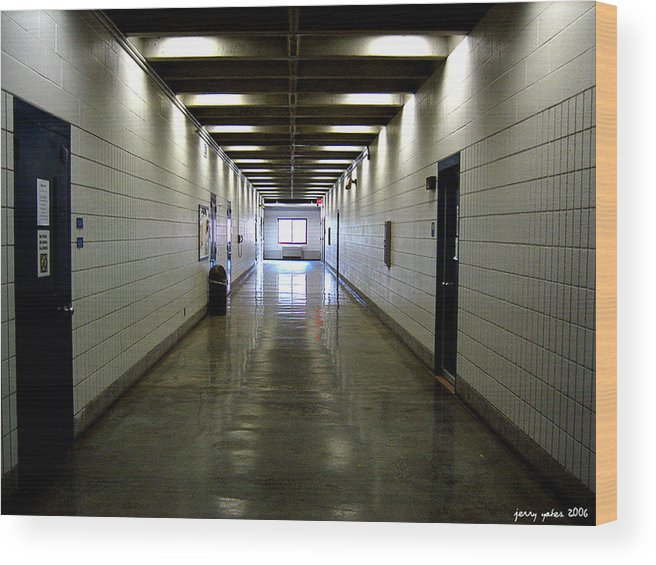 Music Wood Print featuring the photograph Music Hallway by Gerard Yates