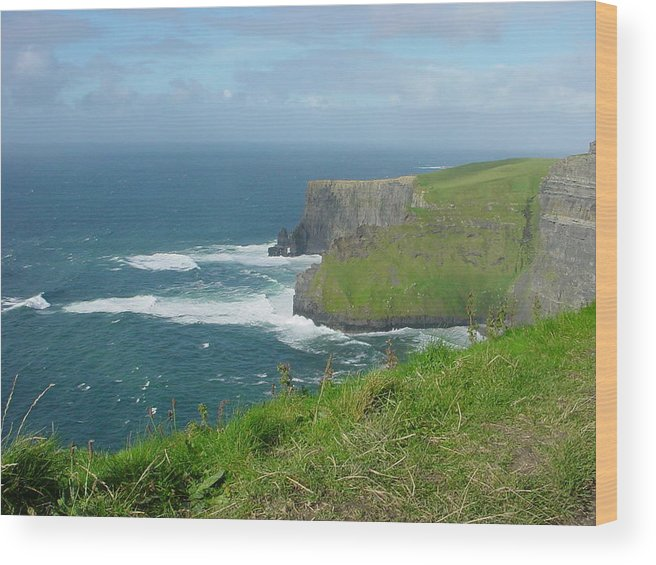 Cliffs Of Mohr Wood Print featuring the photograph Mystical Cliffs by PJ Cloud