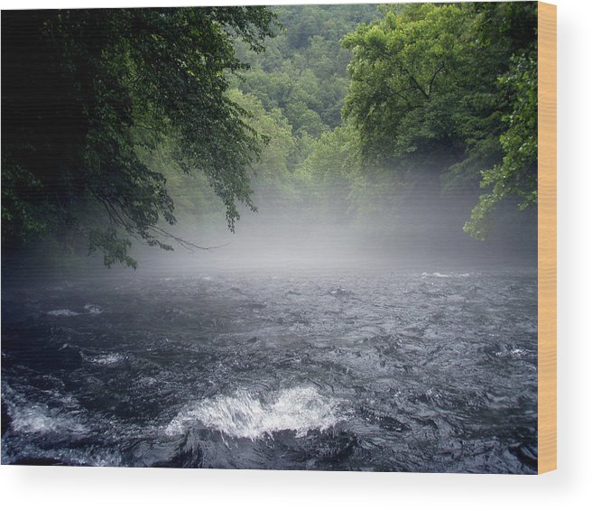 Landscape Wood Print featuring the photograph Nantahala Mist by Jessica Breen
