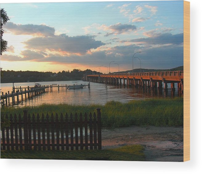 Navesink River Wood Print featuring the photograph Navesink by Caroline Urbania Naeem