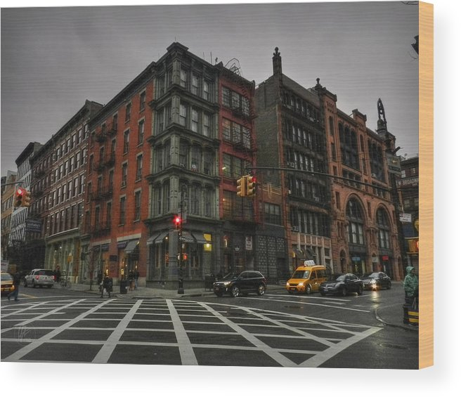 Soho Wood Print featuring the photograph New York City - Soho 006 by Lance Vaughn